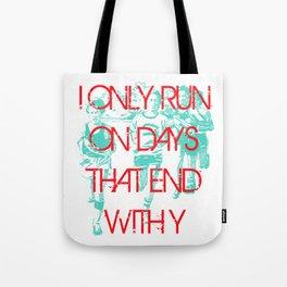 Running Days Tote Bag