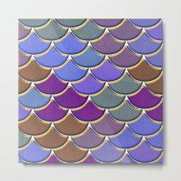 Multicolor Scales Metal Print