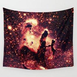 galaxy : Copper Pillars of Creation Nebula Wall Tapestry