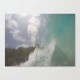 rippled glass Canvas Print