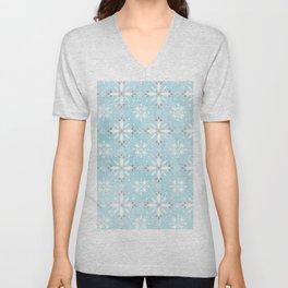 Christmas snowflakes pattern Unisex V-Neck