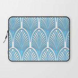 Art deco,deco,blue,white,elegant,chic,fan pattern, vintage,art nouveau,nelle epoque,victorian,beauti Laptop Sleeve