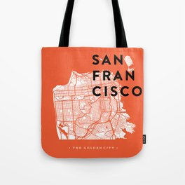 San Francisco Map 04 Tote Bag