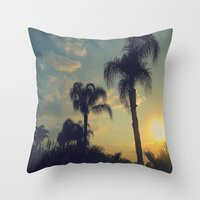 florida Throw Pillows featuring Florida by Jillian Stanton