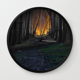 Haunted Forest and Andrew Goldsworthy Sculpture Wall Clock