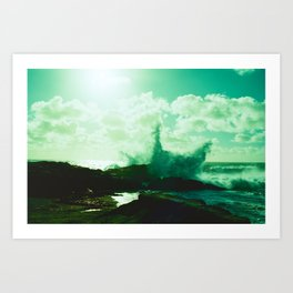 Pebble Beach Waves // California Art Print