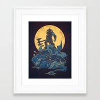 skyrim Framed Art Prints featuring The Dragon Slayer by Fanboy30