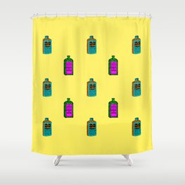 Retro Pattern med. Shower Curtain