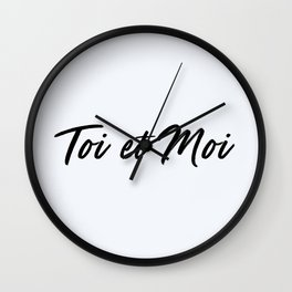 67. You and Me Wall Clock