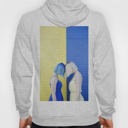 Yellow vs blue Hoody