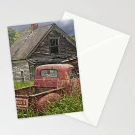 Old Chevy Pickup and Abandoned Farm House Stationery Cards