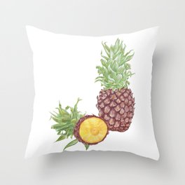 Pineapple and a half Throw Pillow
