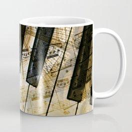 Piano Keys Music Collage abstract Coffee Mug