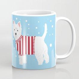 Westie Spots and Stripes Coffee Mug