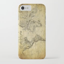 World Map 1814 iPhone Case