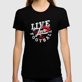 Live Love Football Cute Cheerleader T-Shirt T-shirt