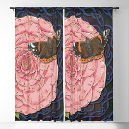 Celtic Rose and Red Admiral Butterfly Blackout Curtain