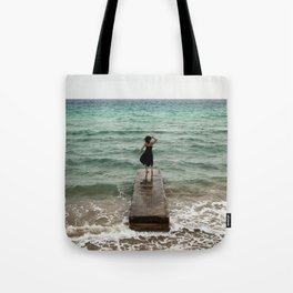 The Woman And The Sea Tote Bag