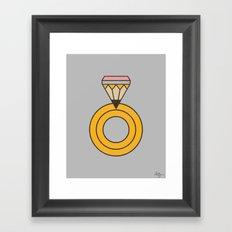 Draw Ring Framed Art Print