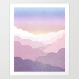 Minimal abstract landscape 01 Art Print