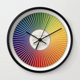 Chevreul Cercle Chromatique, 1861 Remake, renewed version Wall Clock