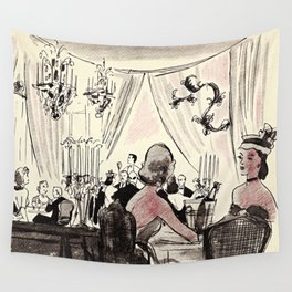 A Evening Out Wall Tapestry