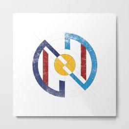 Geometric superheroe logo Metal Print