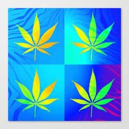 GreenRush - PopLeaf Blue Canvas Print
