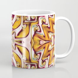 Fiery Orange and Cream Spiral Bends Coffee Mug