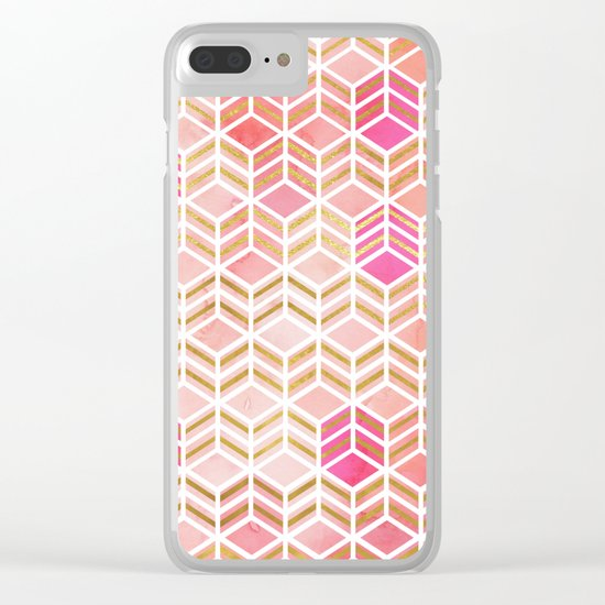 TAKE THE CAKE - CORAL Clear iPhone Case