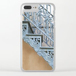 Savannah Blue Staircase Clear iPhone Case