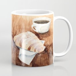 Croissant and Coffee Coffee Mug