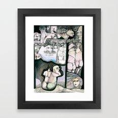 Renting house Framed Art Print