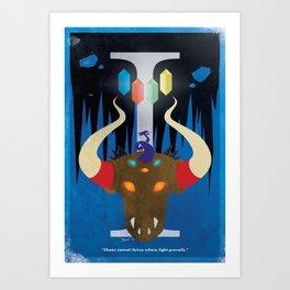 Vintage FF Poster I Art Print