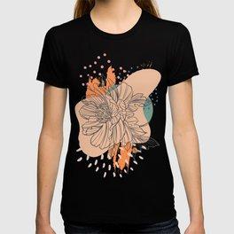 Abstract Floral Motif T-shirt