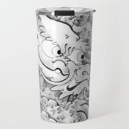 BABY DRAGON UKIYO-E Style BK Travel Mug
