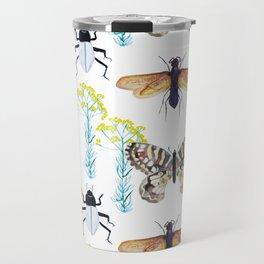 Watercolor Insects Travel Mug