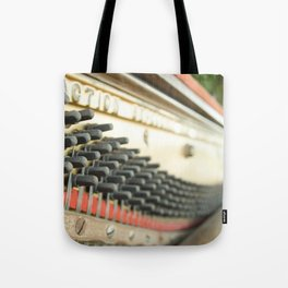 On Key Abandoned Piano Urbex, Urban Exploration, Music, Musical, Instrument Tote Bag