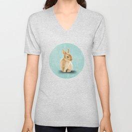 Portrait of a little bunny Unisex V-Neck
