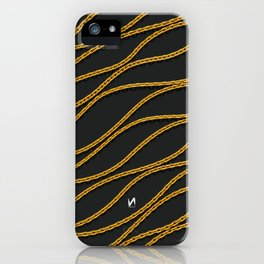 Wave Gold Chain Black iPhone Case