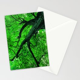 Emerald Leafage Stationery Cards