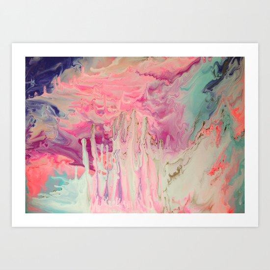 Pink Polar Castle  Art Print