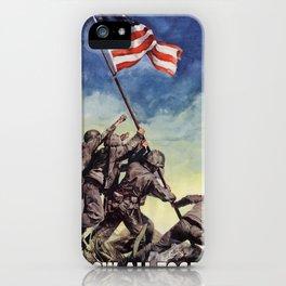 Raising the Flag on Iwo Jima iPhone Case