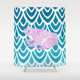 Pink Froggy Shower Curtain