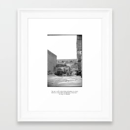 The City 3: Brooklyn In The Back Framed Art Print