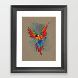 Colors of the Macaw Framed Art Print