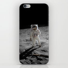 Astronaut Buzz Aldrin Apollo 11 original Photograph 1969 Standing on The Moon Print iPhone Skin