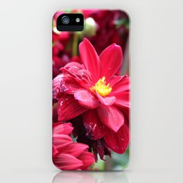 Blooming Red: Imperfectly Perfect iPhone Case