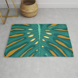 Monstera Flying to Autumn 2 Rug