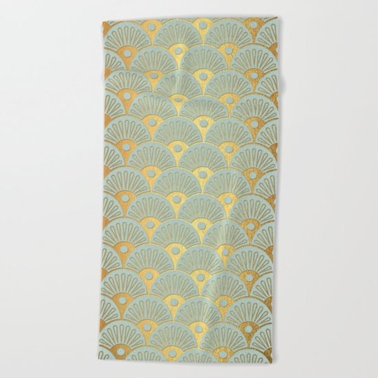 Fan Gold Beach Towel